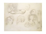 Studies of a Mother and Child  19th Century