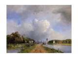 View of the Vliet Near Delft  1844