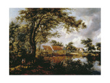 Wooded Landscape with Watermill  1660s