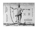 Indian Markings  Engraved by Theodor De Bry (1528-1598)