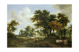 Wooded Landscape with the Ruins of a House  C1663-64