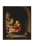 An Elderly Couple Eating