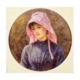Portrait of a Girl in a Pink Bonnet