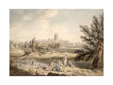 Magdalen College  Oxford  View from Cherwell Looking North West  1791-92