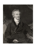 Thomas Young  Engraved by G Adcock  from 'National Portrait Gallery  Volume II'  Published C1835