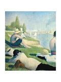 Bathers at Asnieres  1884 (Detail)