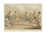 A Prize Fight  Engraved by J Clark  Published in 1820