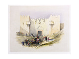 T1212 Gate of Damascus  Jerusalem  April 14th 1839  Plate 3 from Volume I of 'The Holy Land' …