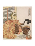 Brazier (Kotatsu) from the Series '108 Designs of Customs of Women Likened to the Suikoden' …