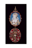 Portrait Miniature of Queen Anne of Denmark (1574-1619) with Jewelled Cover  C1611