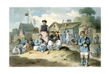 A Group of Chinese on the Bank of a River  Watching the Earl Macartney's Embassy Pass  1793