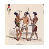 Maori Warriors Preparing for Battle  from the 'New Zealand Illustrated'  C1846