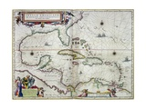 "Caribbean and Central America: from the Atlas ""Toonneel Des Aer Drycx""  Vol II  Published  1650"