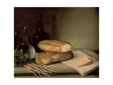 Still Life with Bread  Cheese and a Flagon of Wine