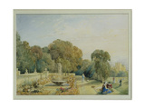 View of the Gardens at Chatsworth  Derbyshire  C1820
