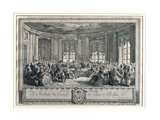 The Concert at the House of the Countess of Saint Brisson  Engraved by L Provost