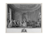 The Assembly at the Concert  Engraved by Francois Nicolas Barthelemy Dequevauviller (1745-1807)