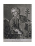Portrait of John Hebden (Fl1740-60)  a Cellist in Handel's Orchestra  Engraved by John Faber…
