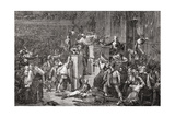 The Head of Feraud at the Tribunal  20 May 1795  Year III  Engraved by Jonnard from 'Histoire De…