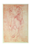 Study of a Horse and Rider  C1481