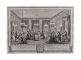 The Evening Dress Ball at the House of Monsieur De Villemorien Fila  Engraved by L Provost