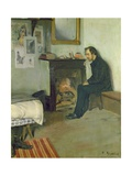 The Bohemian (Portrait of Erik Satie in His Studio in Montmartre)  1891