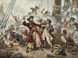 The Capture of the Pirate Blackbeard  1718