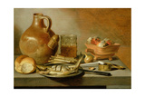 Still Life with Jug  Herring and Smoking Requisites  1644