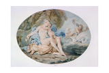 Venus Reclining on a Bank Strewn with Drapery