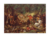 Robin Hood and His Merry Men Entertaining Richard the Lionheart in Sherwood Forest