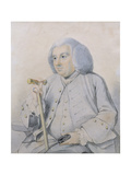 Sketch of the Portrait of Andrew Drummond (1688-1769) Founder of the Bank  Killed at Culloden