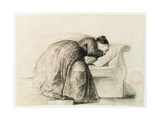 Study of a Woman Weeping