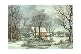 Winter in the Country - the Old Grist Mill  1864