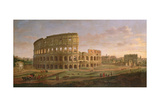 View of the Colosseum with the Arch of Constantine  C1716