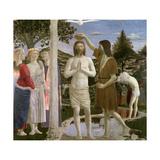 Baptism of Christ  Detail of Christ  John the Baptist and Angels  1450