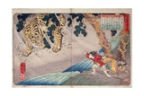 Yoko and the Tiger  from 'Twenty-Four Paragons of Filial Piety' ('Nijushi Ko Doji Kagami')  Pub…