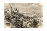 Granada and the Alhambra  Illustration from 'spanish Pictures' by the Rev Samuel Manning