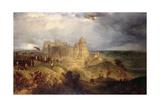 Nottingham Castle: King Charles I Raising His Standard  24th August 1642