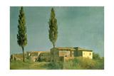 At the Villa Farnese: the Two Poplars  C1777