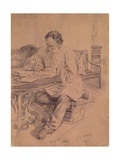 Lev Nikolaevich Tolstoy (1828-1910) at Work  1891