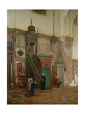 Detail of the Interior of the Grand Mosque  Damascus  1873-75