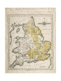 Map of Southern Britain  Coloured to Show Geological Areas of Interest  Annotated by William…