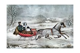 The Road - Winter (Currier and His 2nd Wife  Laura Ormsbee  1843)