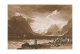 F15I Lake of Thun  from the 'Liber Studiorum'  Engraved by Charles Turner  1808