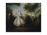 Marie-Anne Cuppi (1710-70) known as La Camargo  Dancing  1730