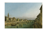 The Arno in Florence with the Ponte Alla Carraia  C1745