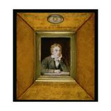No0713 a Portrait Miniature of John Keats (1795-1821) C1818