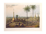 Scene from the Upper Terrace of the Great Pagoda at Rangoon  to the South East  Engraved by H…