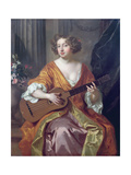 Portrait of Mrs Moll Davies  Mistress of Charles II  Flowers Painted by Jean Baptiste Monnoyer…