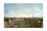 A View of the Calle De Alcala  Madrid  C1750